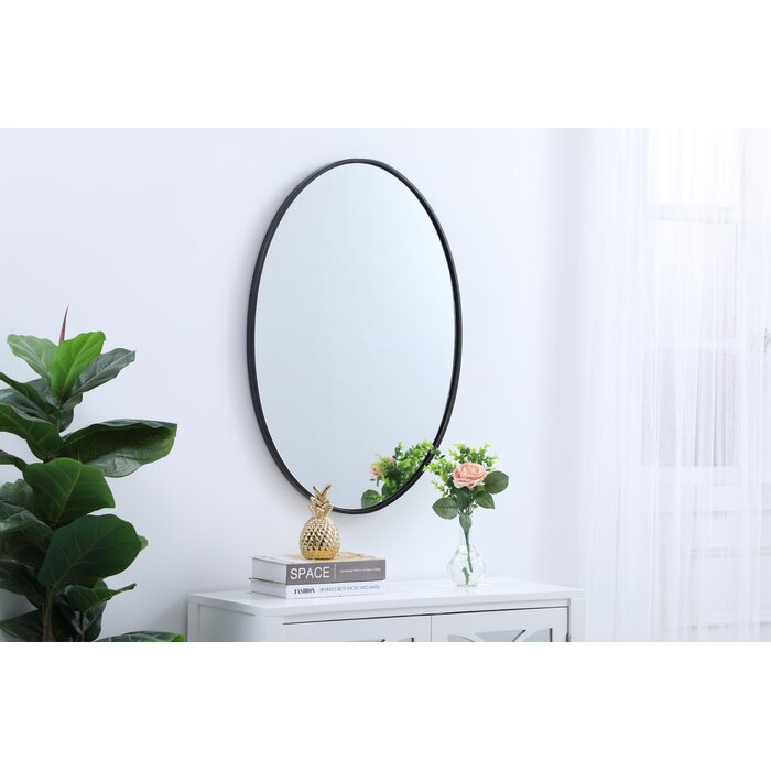 Hooten Metal Oval Beveled Accent Mirror For Oval Metallic Accent Mirrors (#6 of 20)