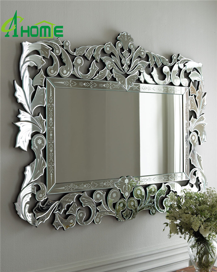 [Hot Item] Modern New Framed Home Decorative Wall Rectangle Venetian Mirror Throughout Modern Rectangle Wall Mirrors (#20 of 20)