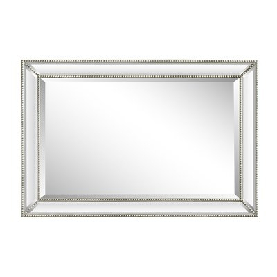 House Of Hampton Boland Rectangle Beaded Frame Accent Mirror With Regard To Silver Frame Accent Mirrors (#11 of 20)
