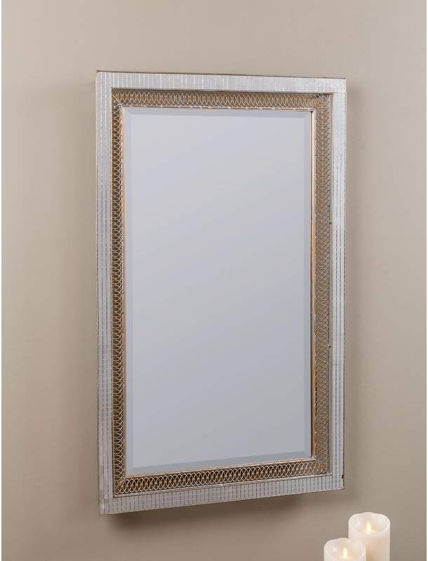 House Of Hampton Rectangle Silver Modern & Contemporary Inside Modern & Contemporary Beveled Accent Mirrors (#7 of 20)
