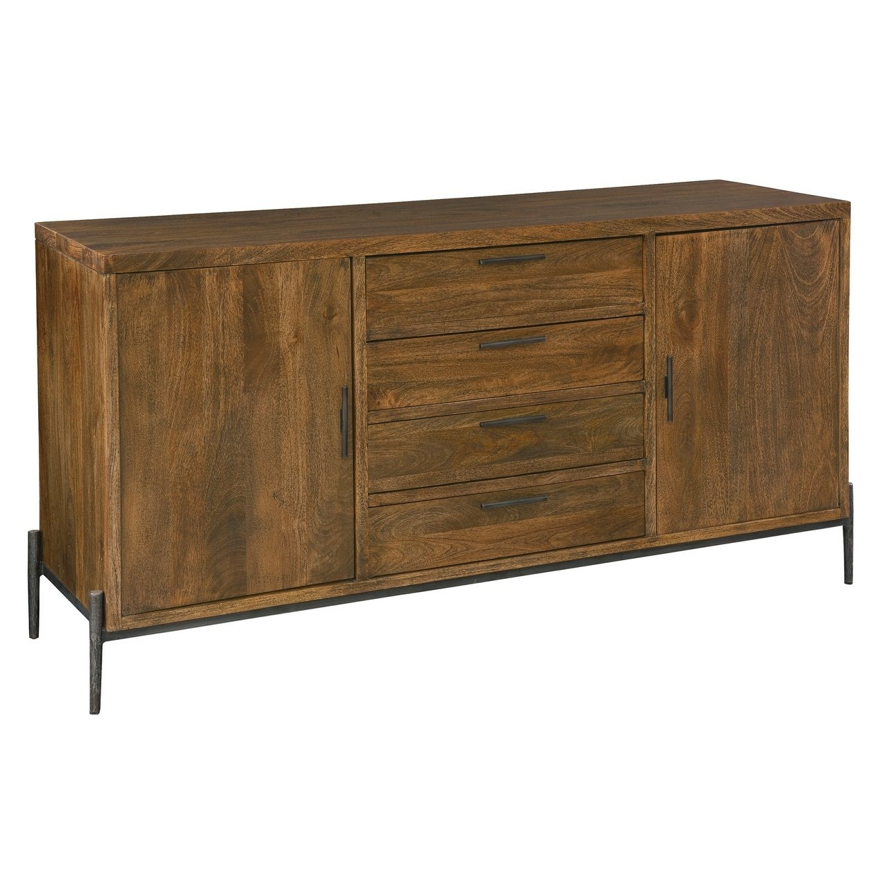 Howard Miller Bedford Park Brown Wood/iron Buffet Cabinet With Recent Ellenton Sideboards (#17 of 20)