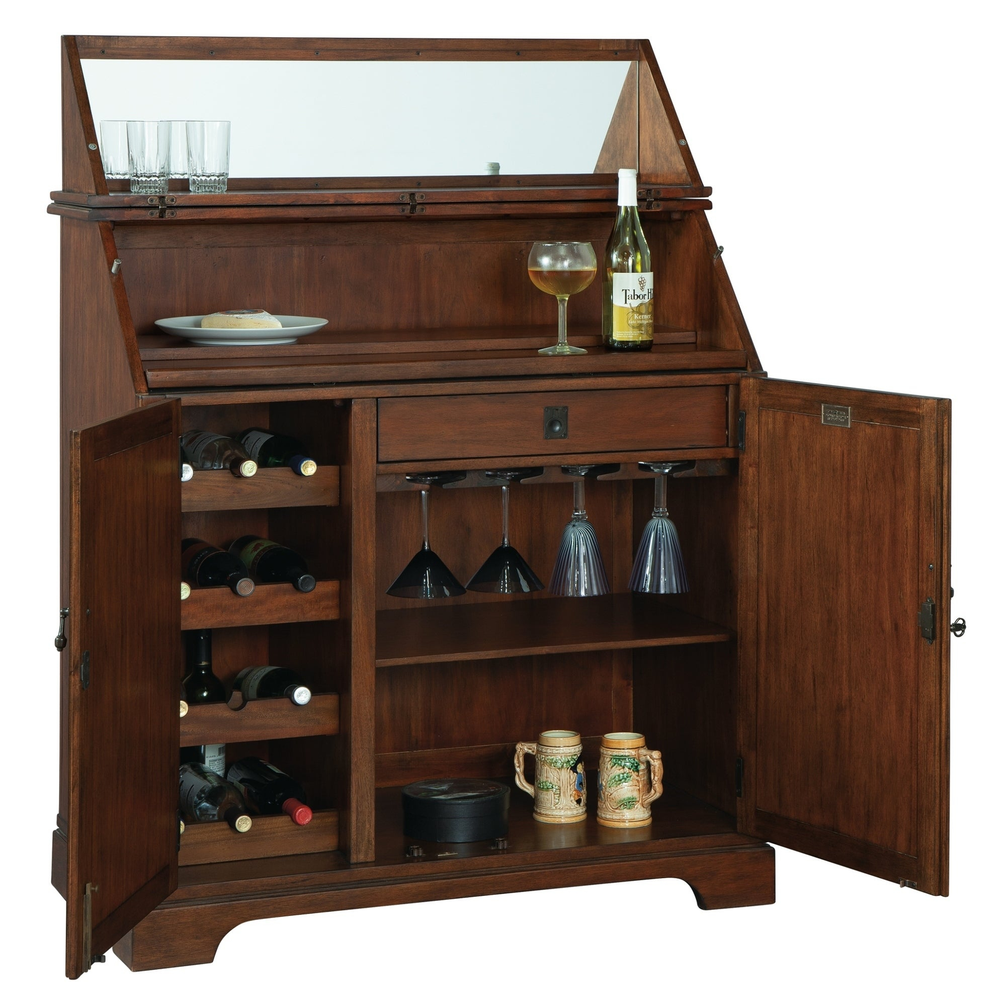 Howard Miller Good Cheer Contemporary, Sleek, Transitional Style, Foyer  Liquor Or Wine Cabinet, Sideboard, Or Media Cabinet Throughout Recent Upper Stanton Sideboards (#9 of 20)