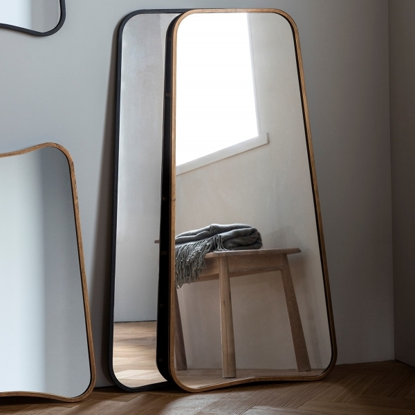 Inca Contemporary Full Length Leaner Mirror, Gold Pertaining To Modern & Contemporary Full Length Mirrors (View 16 of 20)