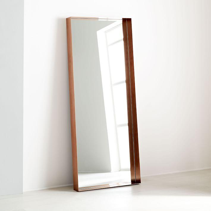 Inspiration about Industrial Antique Copper Shadowbox Floor Mirror Inside Industrial Full Length Mirrors (#18 of 20)
