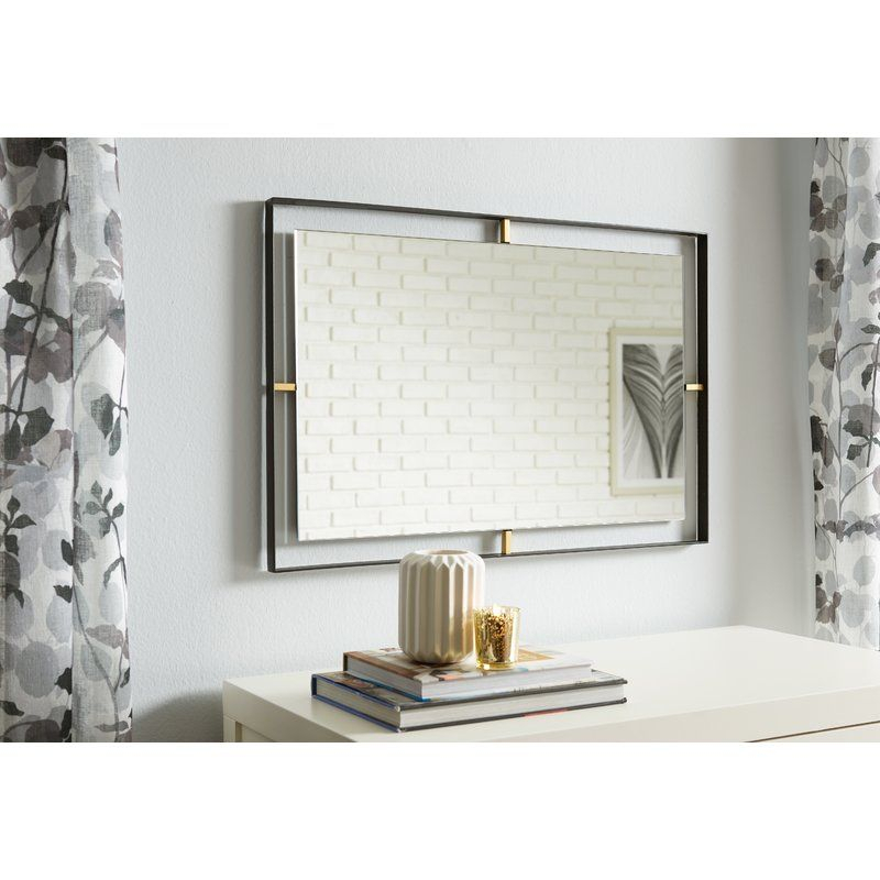 Industrial Rectangle Accent Wall Mirror | Wood Residence In Rectangle Accent Wall Mirrors (View 18 of 20)