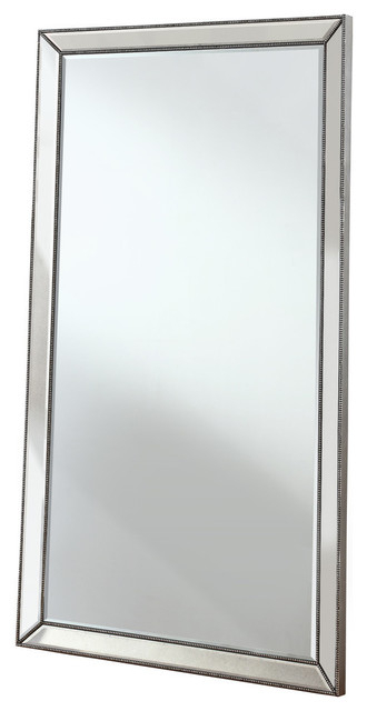 Jameson Silver Mirrored Floor Mirror, Full Length Throughout Jameson Modern & Contemporary Full Length Mirrors (#17 of 20)