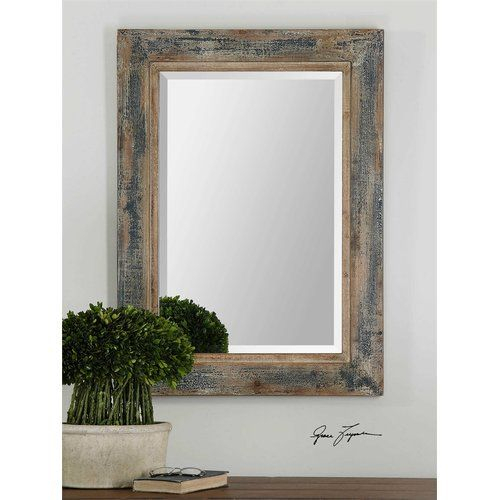 Janie Rectangular Wall Mirror #birchlane | Art | Rustic Wall Inside Janie Rectangular Wall Mirrors (#2 of 20)