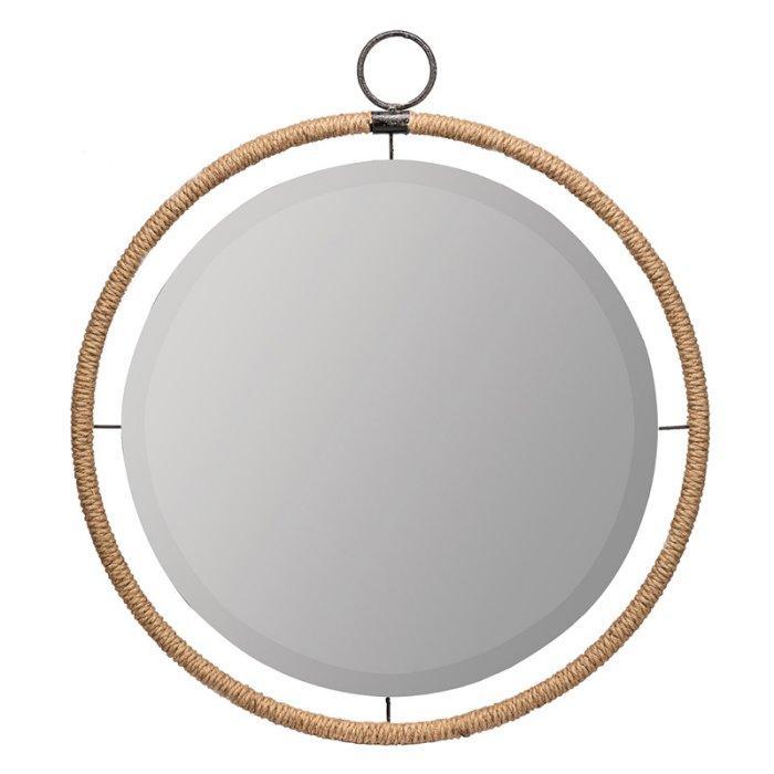 Janie Round Jute Rope Beveled Wall Mirror With Janie Rectangular Wall Mirrors (#15 of 20)