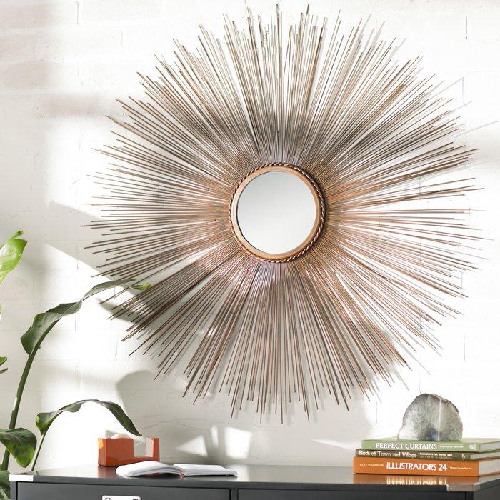 Popular Photo of Jarrod Sunburst Accent Mirrors