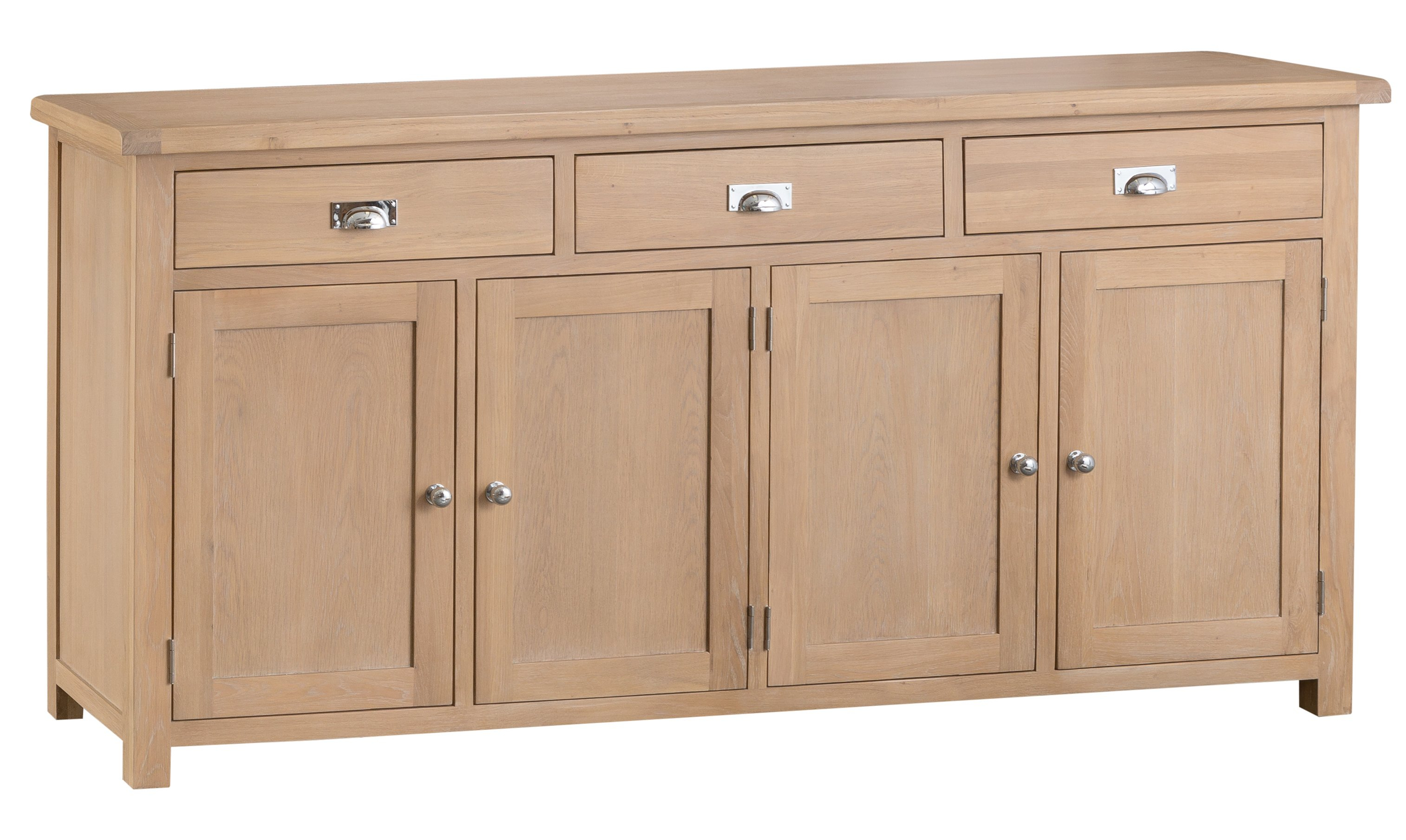 Jennifer Light Oak 4 Door Sideboard Within Recent Rutherford Sideboards (View 6 of 20)
