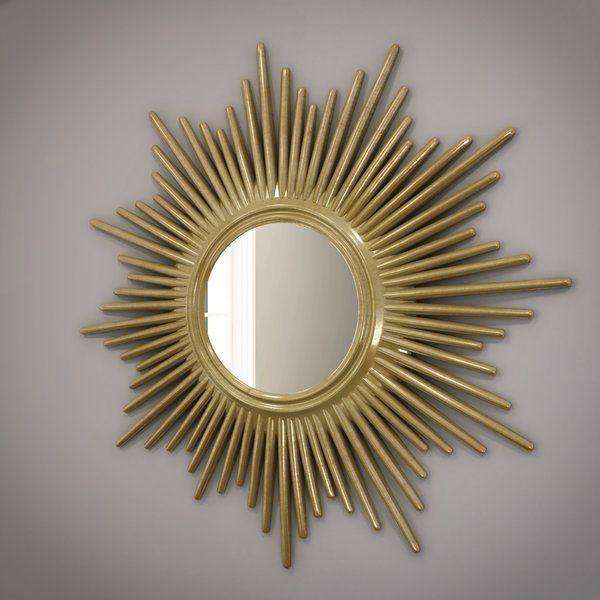 Josephson Starburst Glam Beveled Accent Wall Mirror In 2019 Inside Josephson Starburst Glam Beveled Accent Wall Mirrors (#3 of 20)