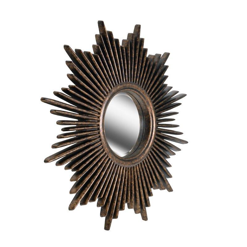 Josephson Starburst Glam Beveled Accent Wall Mirror Intended For Josephson Starburst Glam Beveled Accent Wall Mirrors (#6 of 20)