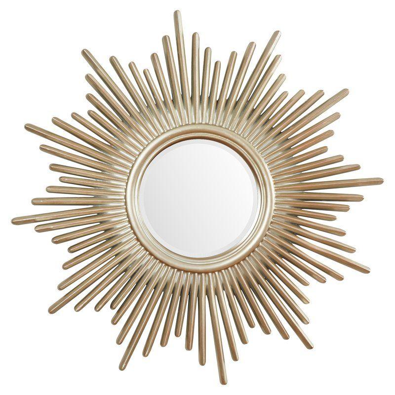 Josephson Starburst Glam Beveled Accent Wall Mirror | Panel Throughout Josephson Starburst Glam Beveled Accent Wall Mirrors (#19 of 20)