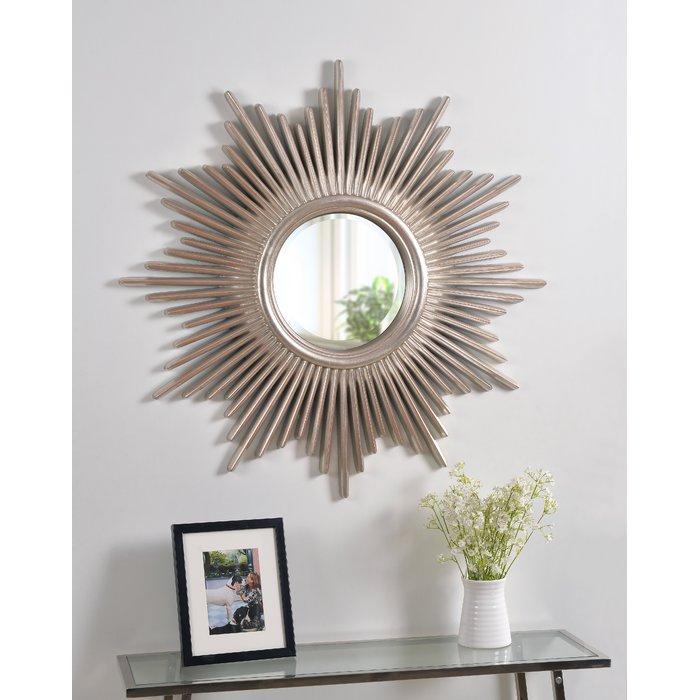 Josephson Starburst Glam Beveled Accent Wall Mirror Pertaining To Jarrod Sunburst Accent Mirrors (#14 of 20)