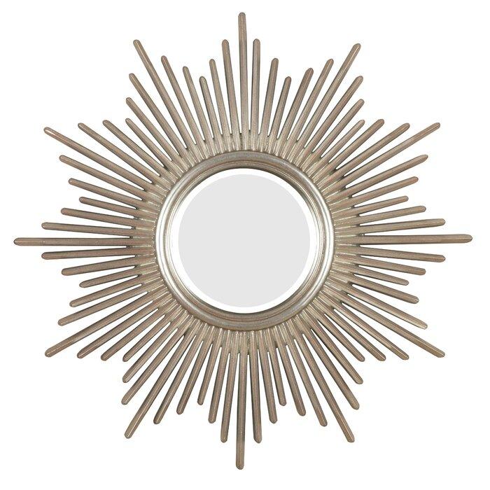 Josephson Starburst Glam Beveled Accent Wall Mirror With Josephson Starburst Glam Beveled Accent Wall Mirrors (View 15 of 20)