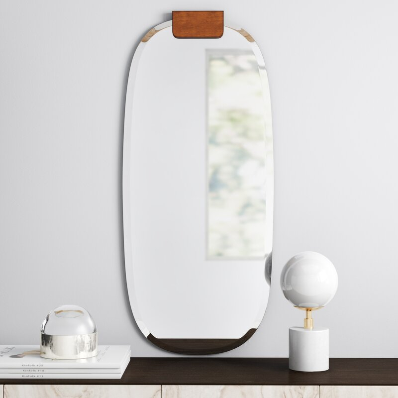Jules Frameless Accent Mirror In Round Eclectic Accent Mirrors (#4 of 20)