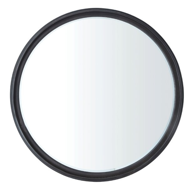 Kadlec Metal Round Industrial Accent Mirror In Charters Towers Accent Mirrors (#14 of 20)