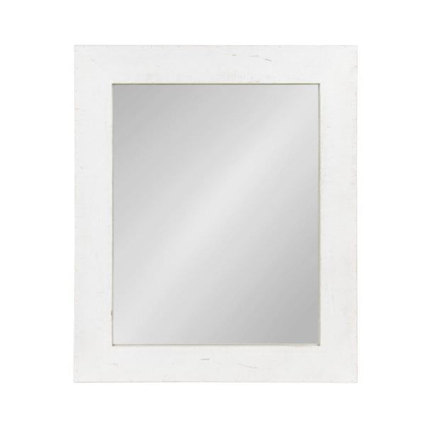 Kate And Laurel Garvey Rectangle White Accent Mirror 212660 Regarding Rectangle Accent Mirrors (#11 of 20)