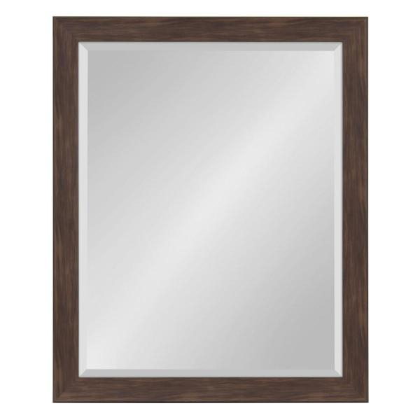 Kate And Laurel Scoop Rectangle Walnut Brown Accent Mirror Intended For Rectangle Accent Mirrors (#14 of 20)