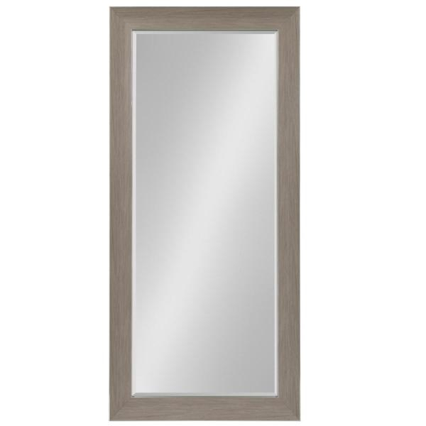 Kate And Laurel Tahoe Rectangle Gray Leaning Mirror 211784 Intended For Leaning Mirrors (#12 of 20)
