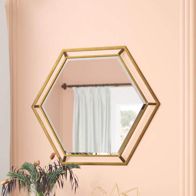 Kelston Mills Modern & Contemporary Beveled Accent Mirror Intended For Modern & Contemporary Beveled Accent Mirrors (#9 of 20)