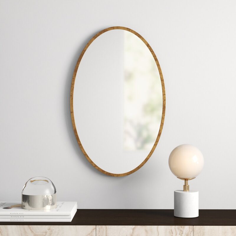 Kennedy Gold Oval Accent Mirror Pertaining To Oval Metallic Accent Mirrors (View 7 of 20)