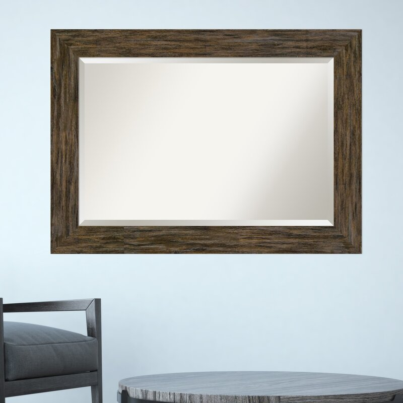 Keyla Beveled Brown Decorative Wall Mirror In Polen Traditional Wall Mirrors (View 8 of 20)