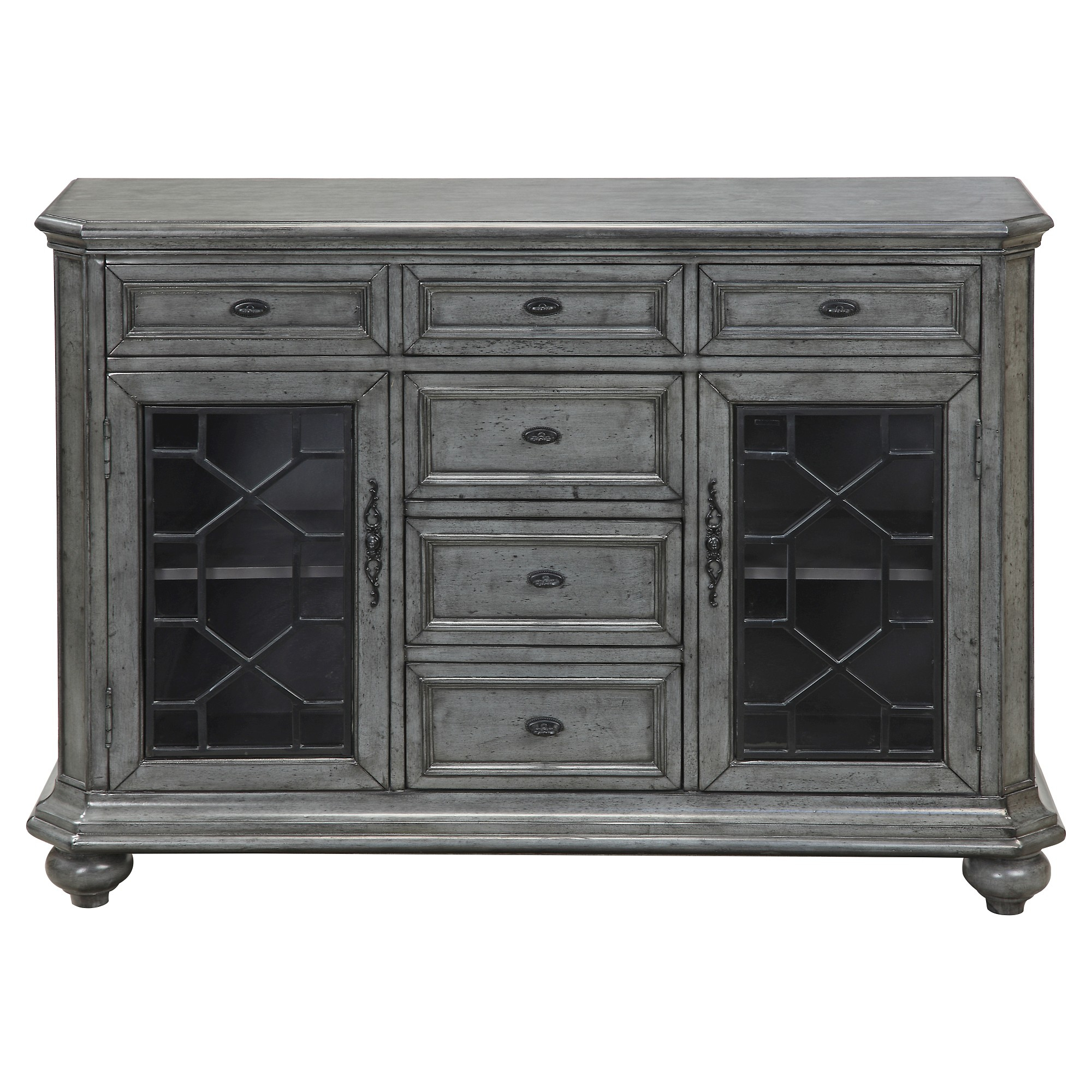 Kino Traditional Storage Cabinet – Grey – Christopher Knight With Regard To 2017 Raquette Sideboards (#6 of 20)