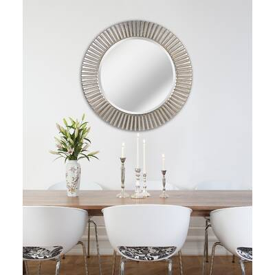 Kist Round Cane Rib Cottage Wall Mirror | Birch Lane Throughout Round Eclectic Accent Mirrors (#5 of 20)