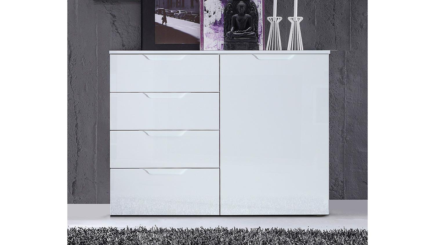 Kommode 1 Sienna Sideboard Anrichte In Weiß Hochglanz With Regard To 2017 Sienna Sideboards (#2 of 20)