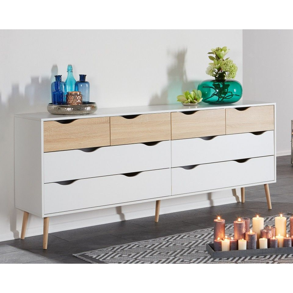 Kommode Oslo (4+4) | # H O M E | Kommode, Kommoden Throughout Most Current Dowler 2 Drawer Sideboards (#12 of 20)