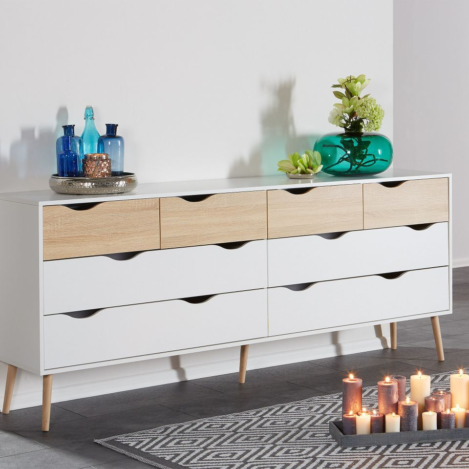 Inspiration about Kommode Oslo (4+4) | Möbel In 2019 | Kommode, Kommoden With Most Recent Dowler 2 Drawer Sideboards (#18 of 20)