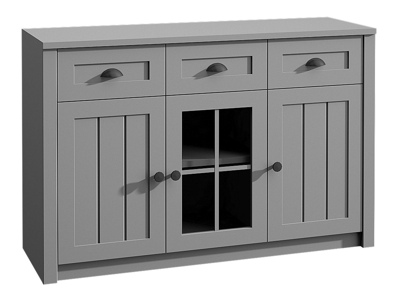 Kommode Segnas 01, Farbe: Grau – 88 X 130 X 43 Cm (h X B X T) Throughout Most Recent Knoxville Sideboards (View 15 of 20)