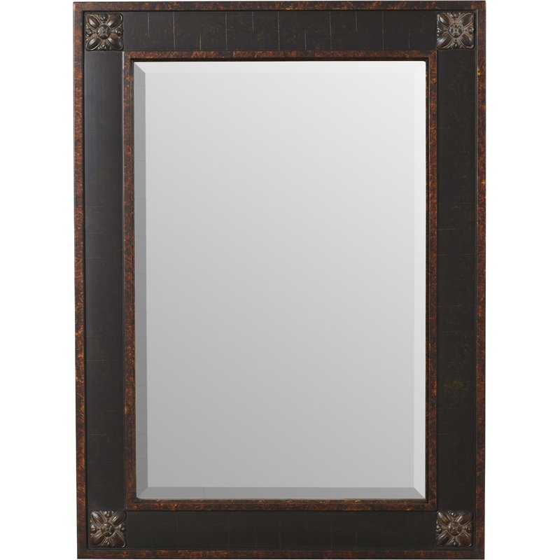Kristy Rectangular Beveled Vanity Mirror In Distressed Throughout Kristy Rectangular Beveled Vanity Mirrors In Distressed (#11 of 20)