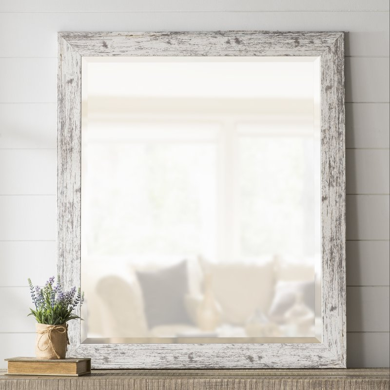 Lagrange Weathered Farmhouse Accent Wall Mirror Regarding Epinal Shabby Elegance Wall Mirrors (View 14 of 20)