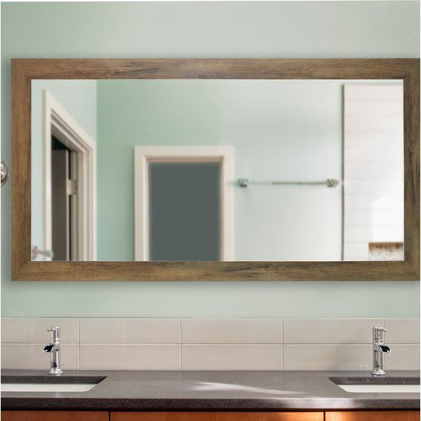 Inspiration about Landover Rustic Distressed Bathroom/vanity Mirror In 2019 Intended For Landover Rustic Distressed Bathroom/vanity Mirrors (#6 of 20)