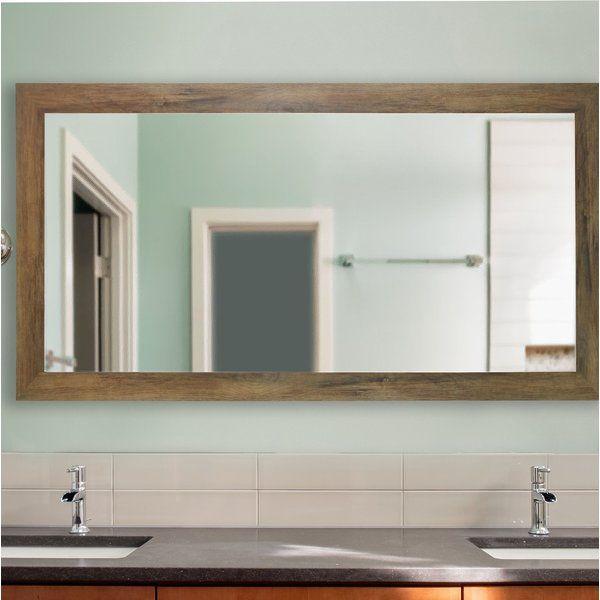 Landover Rustic Distressed Bathroom/vanity Mirror In 2019 Intended For Landover Rustic Distressed Bathroom/vanity Mirrors (#10 of 20)