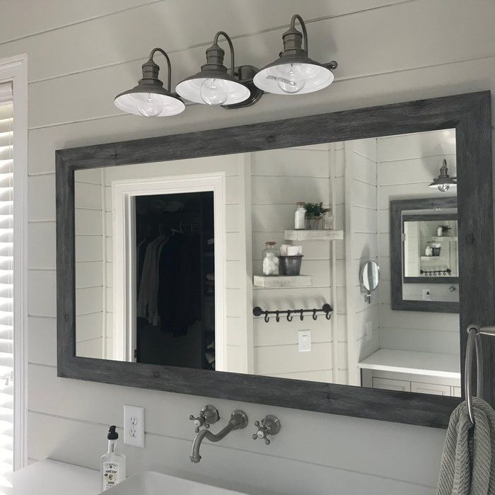 Inspiration about Landover Rustic Distressed Bathroom/vanity Mirror In 2019 Intended For Landover Rustic Distressed Bathroom/vanity Mirrors (#5 of 20)