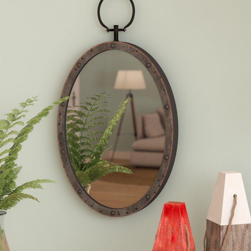 Lanford Oval Metal Accent Mirror | Casa Bella Ideas | Mirror In Oval Metallic Accent Mirrors (#8 of 20)