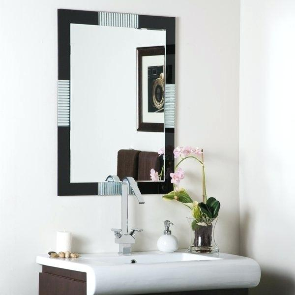 Large Frameless Wall Mirrors – Teeparel (#13 of 20)