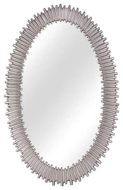 Lea Oval Accent Mirror – Contemporary – Wall Mirrors – Regarding Oval Metallic Accent Mirrors (#9 of 20)