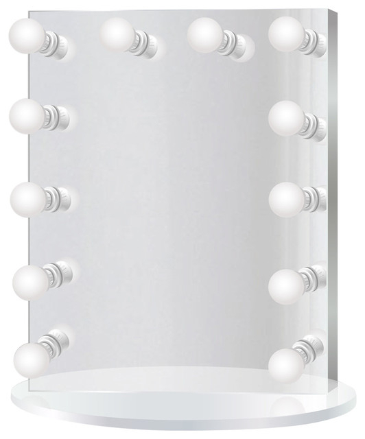 Led Lighted Hollywood Makeup Vanity Mirror Table Top Or Wall Mount Regarding Vanity Mirrors (#13 of 20)