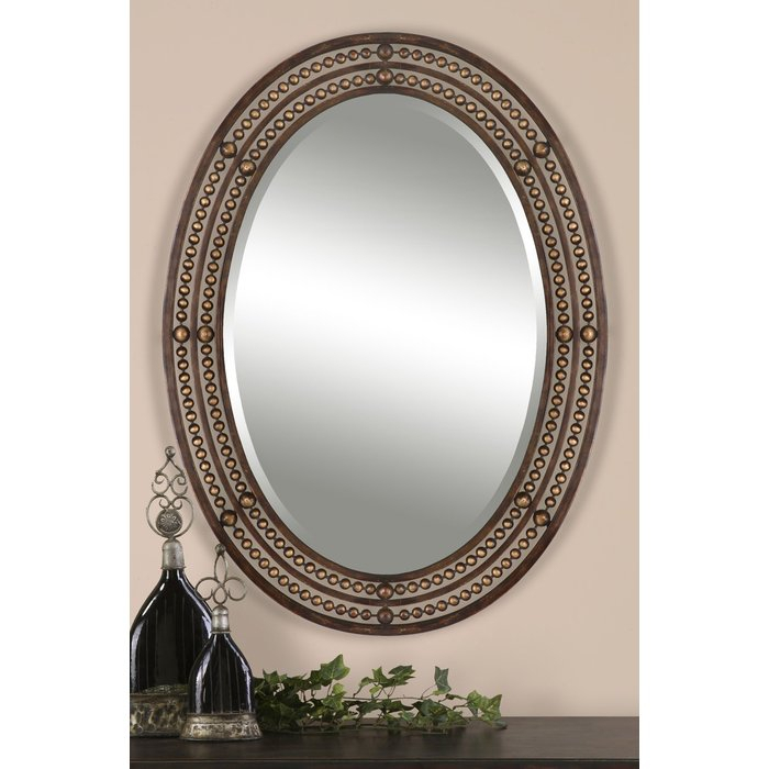 Leeper Oval Wall Mirror With Oval Metallic Accent Mirrors (#10 of 20)