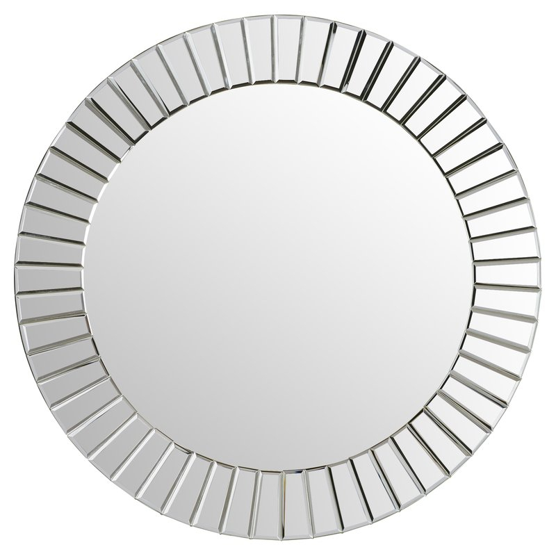 Lidya Frameless Beveled Wall Mirror Within Lidya Frameless Beveled Wall Mirrors (#12 of 20)