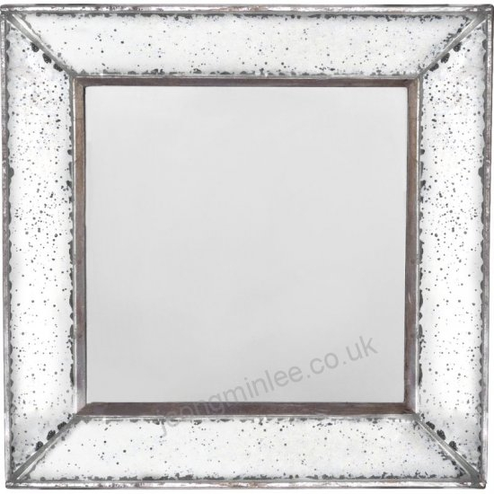 Lily Manor Traditional Square Glass Wall Mirror Lakm1451 Inside Traditional Square Glass Wall Mirrors (#7 of 20)