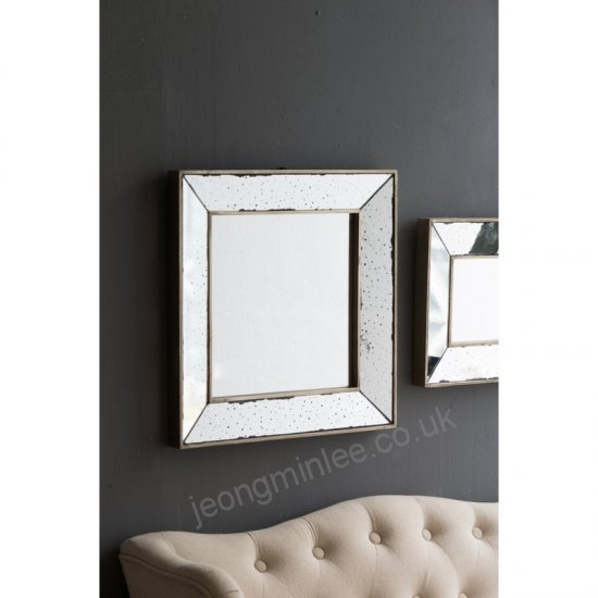Lily Manor Traditional Square Glass Wall Mirror Lakm1451 With Regard To Traditional Square Glass Wall Mirrors (#8 of 20)
