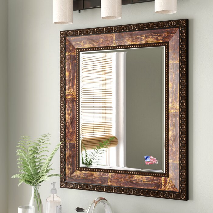 Lofgren Rectangle Wood Traditional Wall Mirror For Kristy Rectangular Beveled Vanity Mirrors In Distressed (#18 of 20)