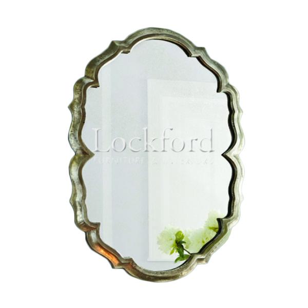 Lucca Baroque Frame Accent Mirror – Antique Silver Inside Silver Frame Accent Mirrors (#12 of 20)