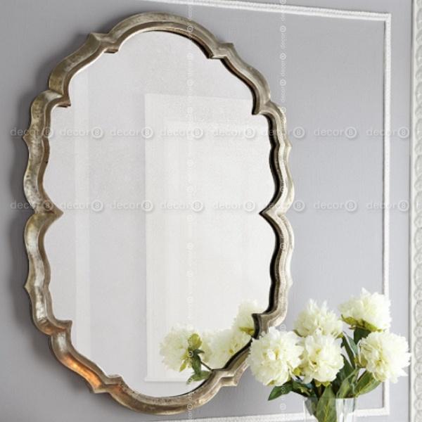 Lucca Baroque Frame Accent Mirror – Antique Silver Regarding Silver Frame Accent Mirrors (#13 of 20)