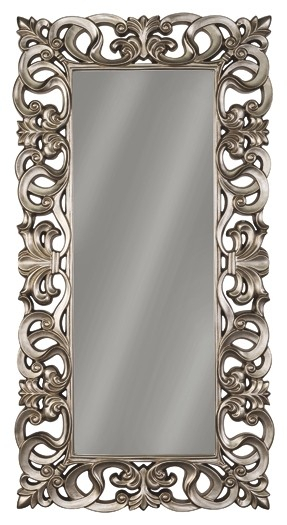 Lucia – Antique Silver Finish – Accent Mirror In Accent Mirrors (View 4 of 20)